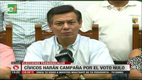 Cívicos cruceños se unen a la campaña del voto nulo para elecciones judiciales