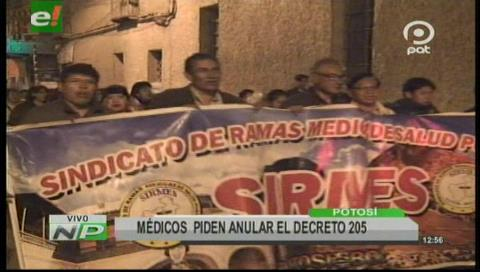 El sector de salud en Potosí se suma al paro nacional desde el lunes