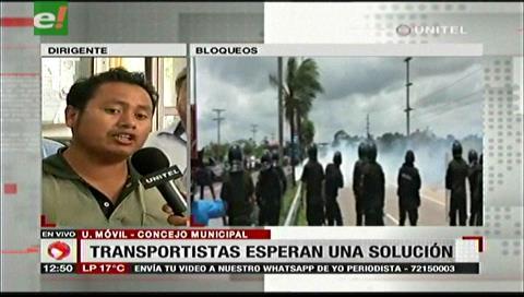 Transportistas inician diálogo con Sosa, piden a la Policía liberar a sus dirigentes