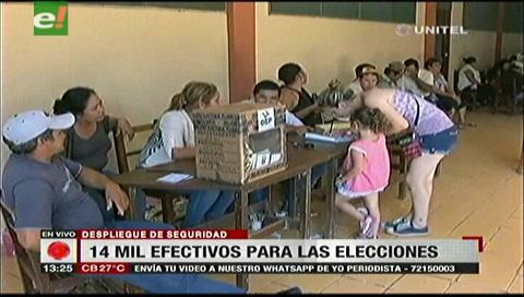 Elecciones judiciales: 14 mil policías darán seguridad en los recintos en todo el país