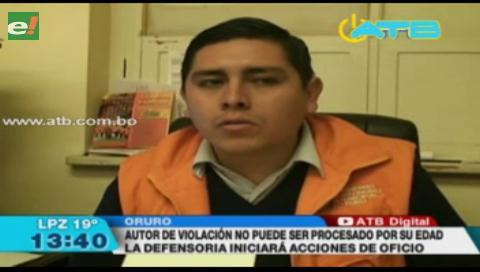 Defensoría inició acciones de oficio en contra de adolescente acusado de violación
