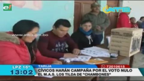 Cívicos de Tarija promoverán el voto nulo a través de redes sociales