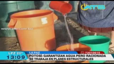 Plan de contingencia para dotar de agua a Potosí es efectivo