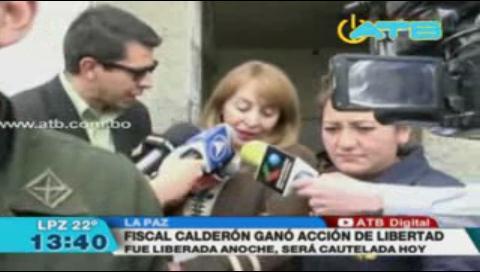 Liberaron a la fiscal Calderón y será cautelada esta tarde
