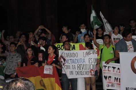 Marcha contra la repostulación en Santa Cruz de la Sierra. Foto: Marco Antonio Curi