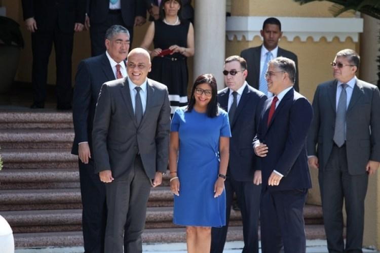 Delcy Rodríguez, presidente de la Asamblea Constituyente, estuvo en el diálogo el viernes (Reuters)