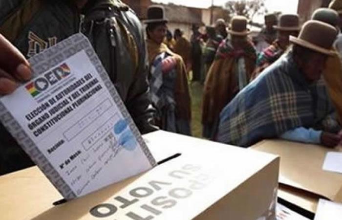 Resultado de imagen para elecciones judiciales bolivia 2017