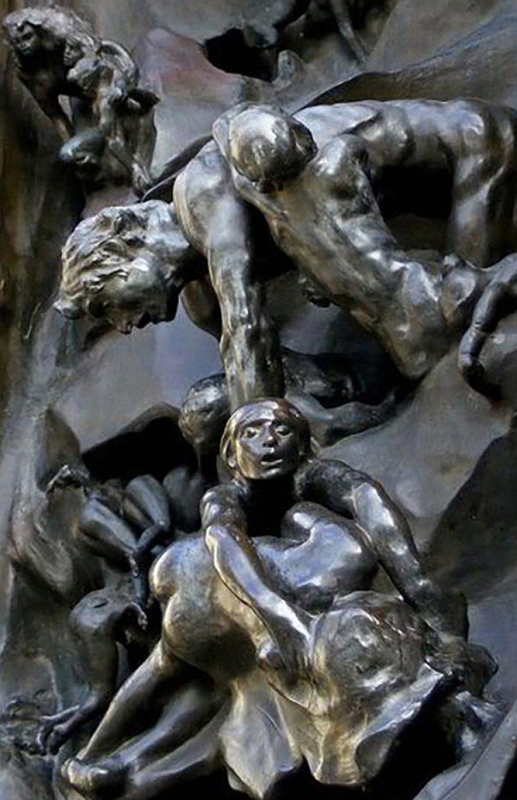 La Puerta del Infierno, de Rodin (detalle)
