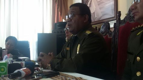 El comandante de la Policía, general Abel de la Barra, informa de detenidos y hace evaluación de operativo en jornada electoral