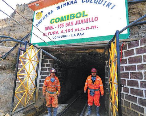 La Empresa Minera Colquiri (EMC). Foto: La Razón - archivo