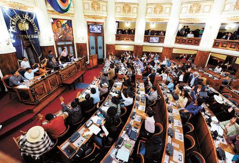Resultado de imagen para El pleno de la Cámara de Diputados bolivia