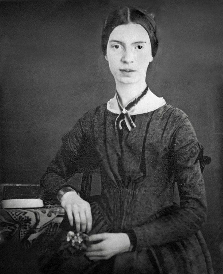 Emily Dickinson a los 16 años, en el seminario de Mount Holyoke, entre diciembre de 1846 y principios de 1847
