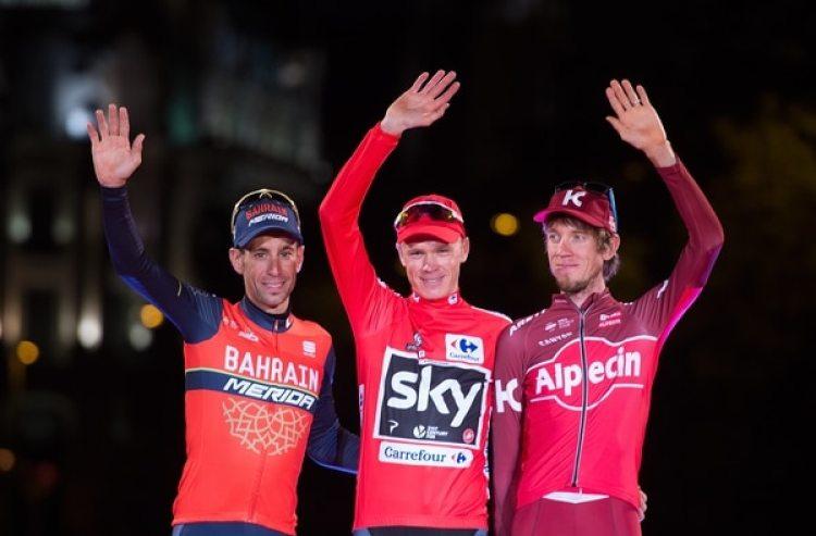 Chris FroomedelTeam Sky celebra la victoria de la Vuelta de España en 2017. (Denis Doyle/Getty Images)