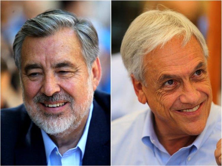 Los candidatos presidenciales chilenos, el oficialistaAlejandro Guillier y Sebastián Piñera (REUTERS/Ivan Alvarado)