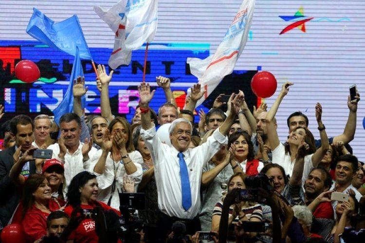 Piñera durante el acto de cierre de campaña en Santiago(REUTERS/Ivan Alvarado)