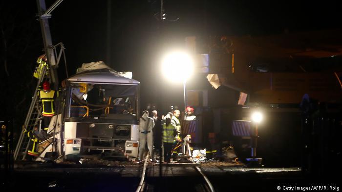 Frankreich Schulbus-Unfall in der Nähe von Perpignan (Getty Images/AFP/R. Roig)