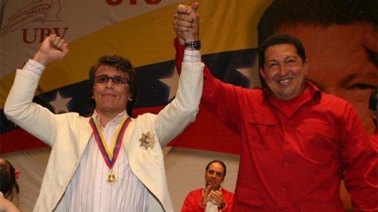 Edwin Valero, junto a Hugo Chávez (Prensa Miraflores)