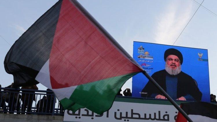 Hassan Nasrallah habla en un acto en Beirut (Reuters)