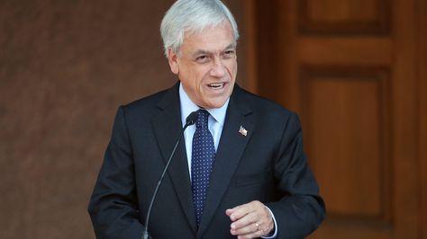 Conferencia de prensa del presidente electo de Chile Sebastián Piñera.