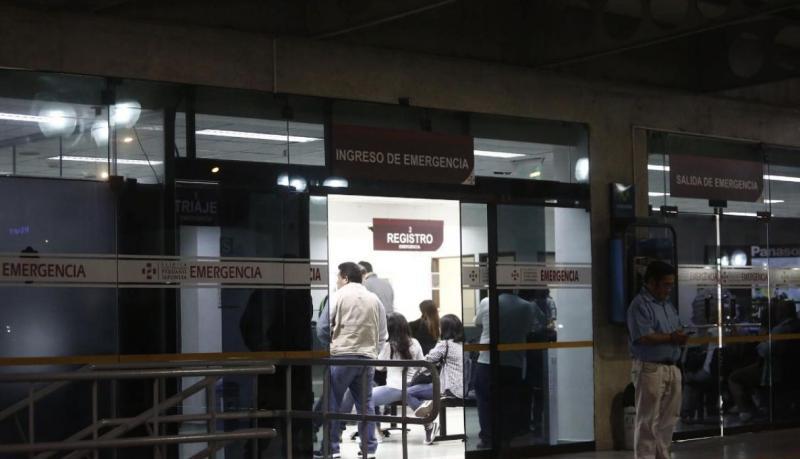Inmediaciones de la clínica Centenario, donde está internado ex jefe de Estado. (César Campos/Perú 21)