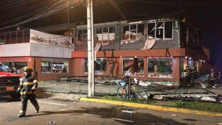 Restaurante donde ocurrió la explosión. (Cortesía El Comercio)