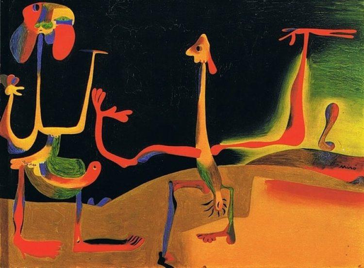 """""""Hombre y mujer frente a un montón de excrementos"""" (1935)"""