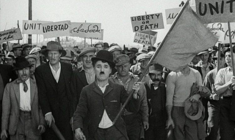 """La protesta que se muestra en """"Tiempos modernos"""""""