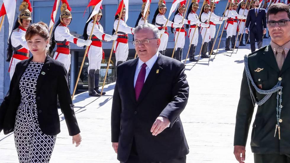 El embajador griego en Brasil, Kyriakos Amiridis, durante un acto oficial en mayo de 2016.