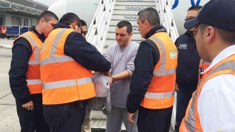 El ex paramilitar Hebert Veloza, alias HH, quien fue deportado recientemente a Colombia luego de cumplir una condena en EEUU.