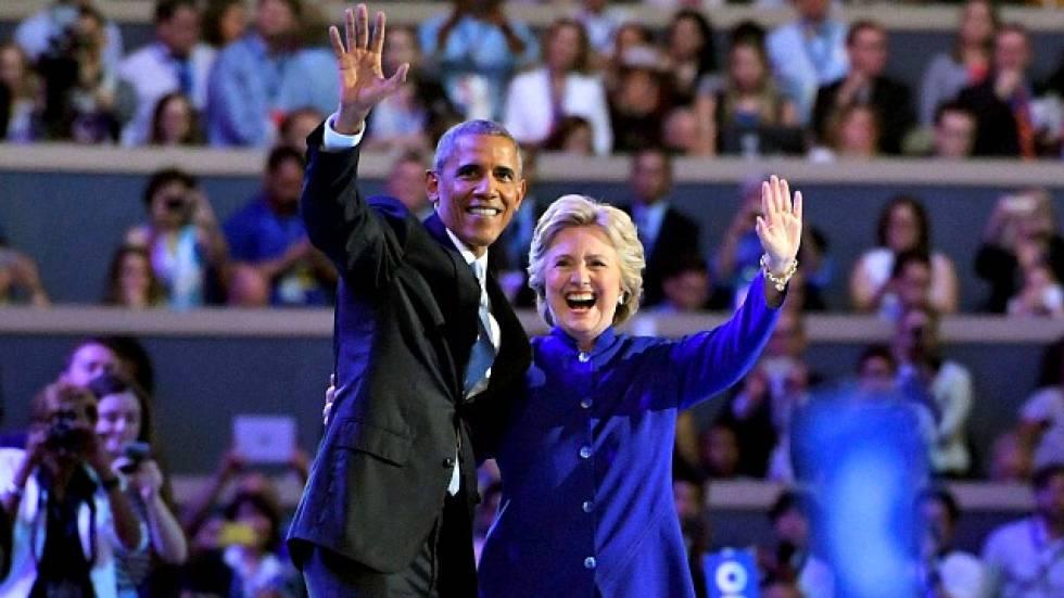 Obama y Clinton, en la campaña de 2016