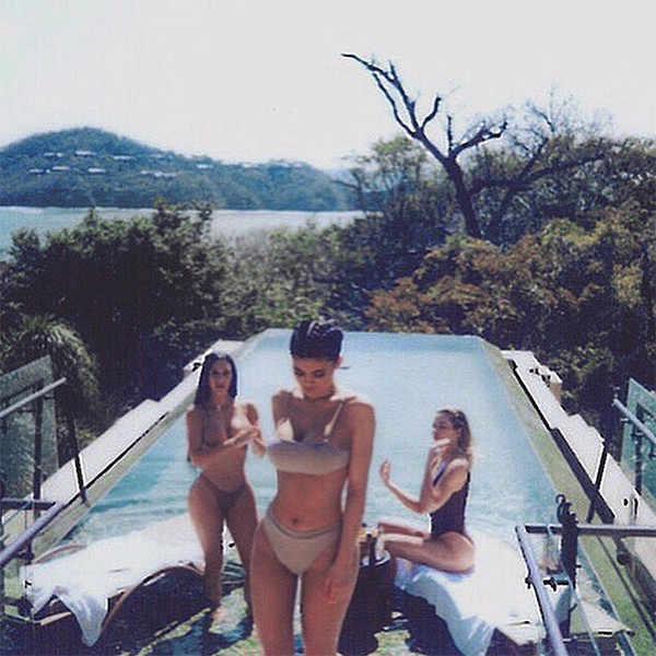 Kim Kardashian, Khloe Kardashian, Kylie Jenner, Swimsuits, Possible Pregnancy Reveal