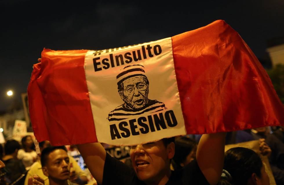 Manifestación en lima contra el indulto a Fujimori