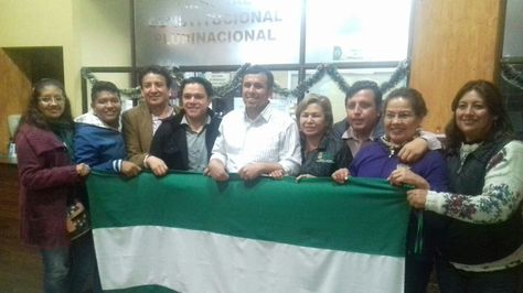 Asambleístas cruceños en el Tribunal Constitucional Plurinacional (TCP) en Sucre. Foto: Yuvert Donoso