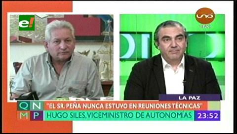 Hugo Siles: Propuesta de la Gobernación cruceña sobre el pacto fiscal es inviable
