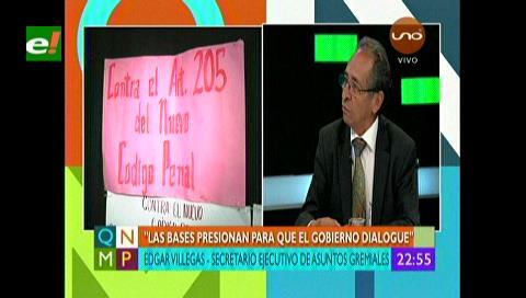 """Villegas: """"La salud en Bolivia está en terapia intensiva"""""""