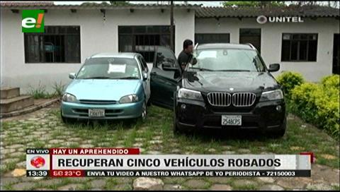 Diprove recupera cinco vehículos robados