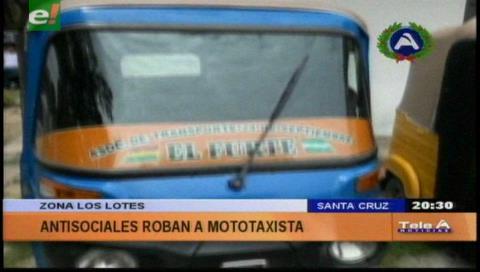 Mototaxistas capturaron a dos sujetos que robaban autopartes
