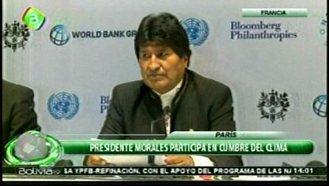 Morales exige a los países desarrollados el pago de la deuda climática y crear Tribunal Ambiental