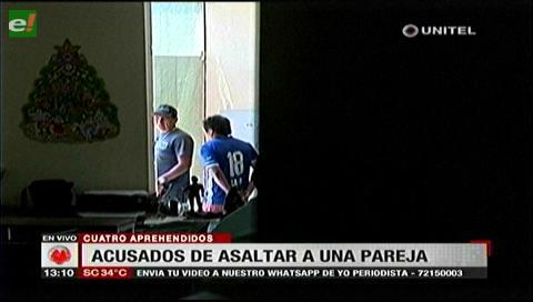 Detienen a cuatro supuestos delincuentes que atracaban en Las Cabañas del Piraí