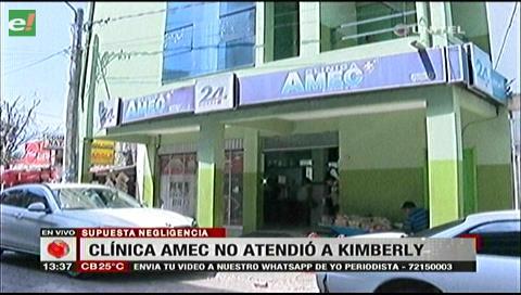 Negligencia médica: Clínica Amec asegura que nunca atendió a Kimberly Claros