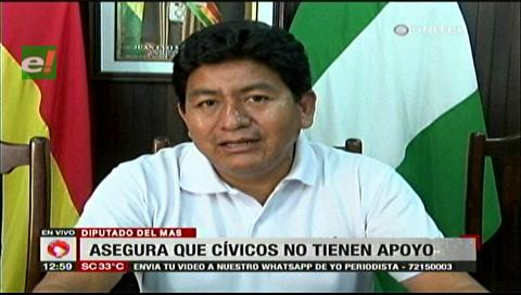 Diputado Montaño llama separatistas a los cívicos y dice que no tienen apoyo