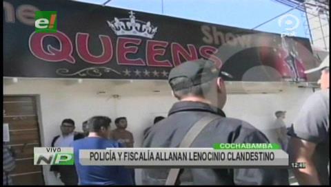 Cochabamba: Policía y Fiscalía allanan lenocinio clandestino