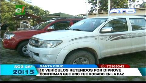 10 vehículos retenidos: Diprove realizó operativo en la zona de la Cuchilla