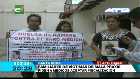 Familiares de víctimas de mala praxis piden a médicos retomar sus actividades