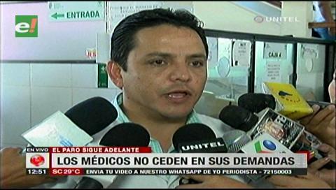 Médicos de Santa Cruz seguirán con el paro y anuncian nuevas medidas