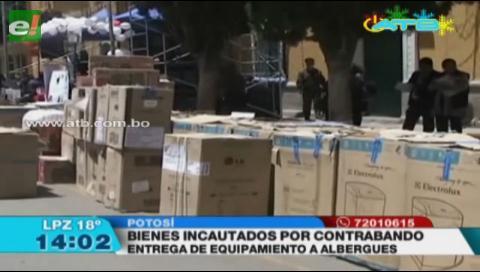 Gobierno donó bienes incautados a centros de acogida en Potosí