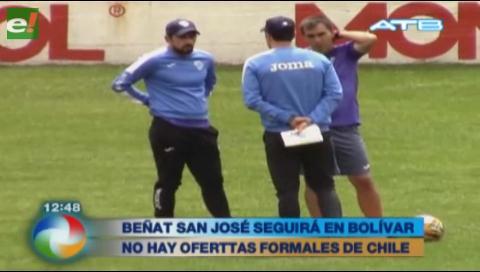 DT Beñat San José continuará en Bolívar