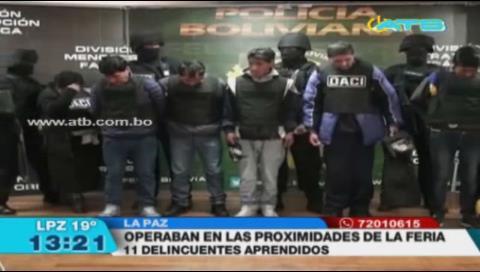 Aprehenden a 11 delincuentes que operaban en la Feria de las mañaneras