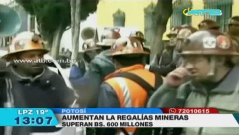 Aumentaron las regalías mineras en Potosí