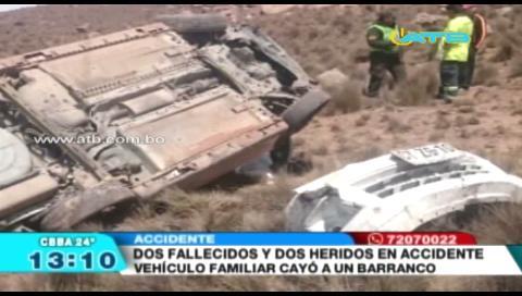 Madre e hija mueren en accidente de tránsito en carretera a Oruro